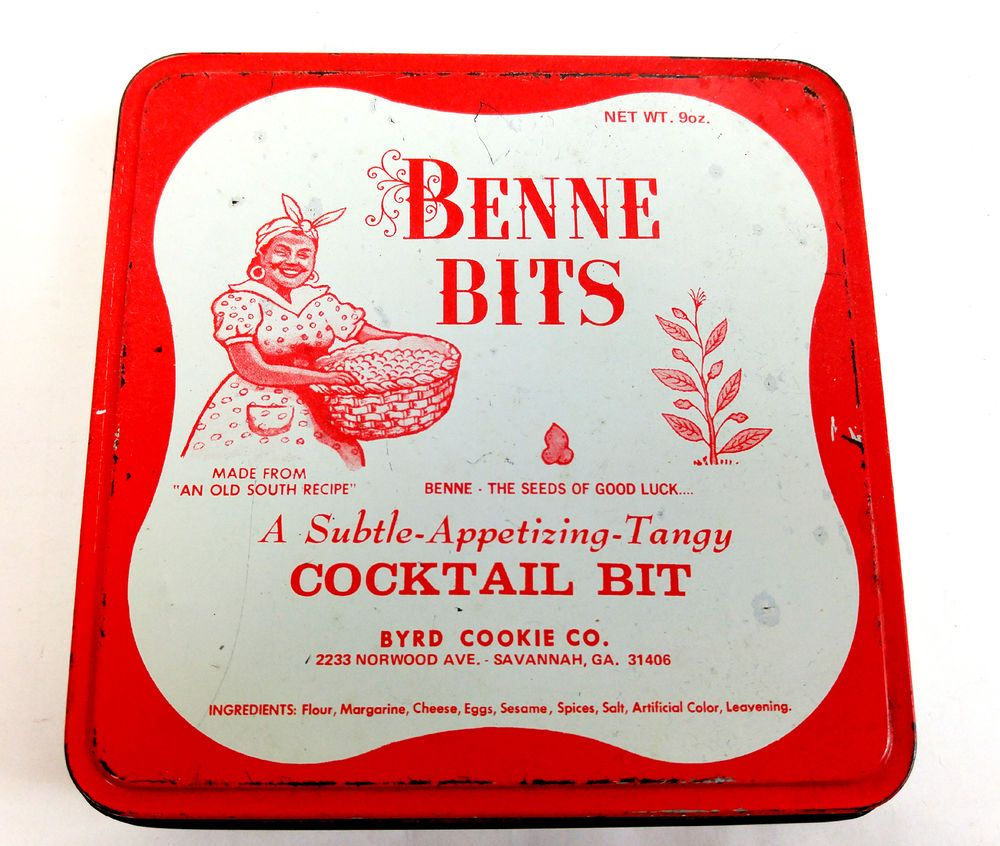 Red White Kitchen Vintage Benne Bits Metal Cookie Tin Red White Kitchen Canister