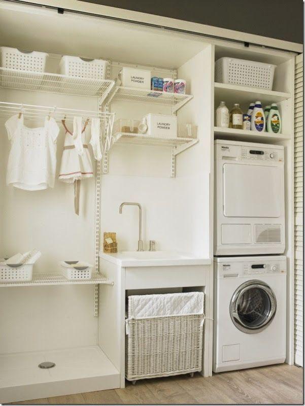 Distribuzione per la lavanderia e zona di stiro http www for Armadio lavanderia