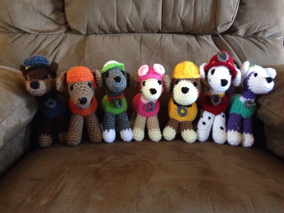 Knitting Pattern Paw Patrol : Crochet Amigurumi Paw Patrol puppies Hollys Hooks Pinterest Best P...