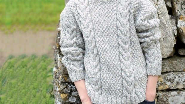 dda44d32e439 Hayfield Free Pattern - Aran Jumper (Children and Adults sizes)