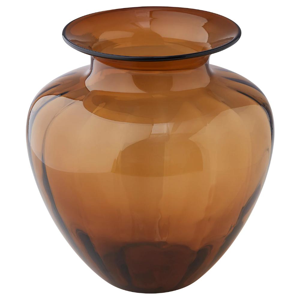IKEA - TONSÄTTA, Vase, gelb, Wirkungsvolle Dekoration - ob mit einem schönen Strauß oder einfach für sich als Objekt. Mundgeblasen; jedes Exemplar wurde von einem talentierten Kunsthandwerker gefertigt.