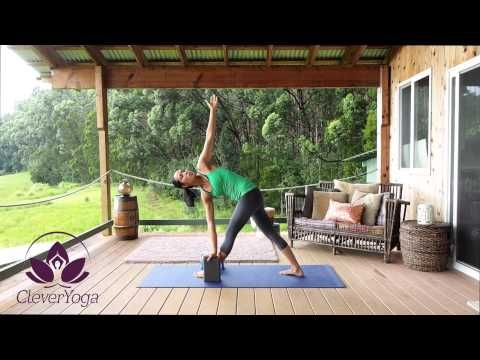 videos  cleveryoga  yoga block triangle pose poses