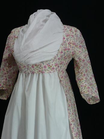 Lace overlay dress regency england fashion