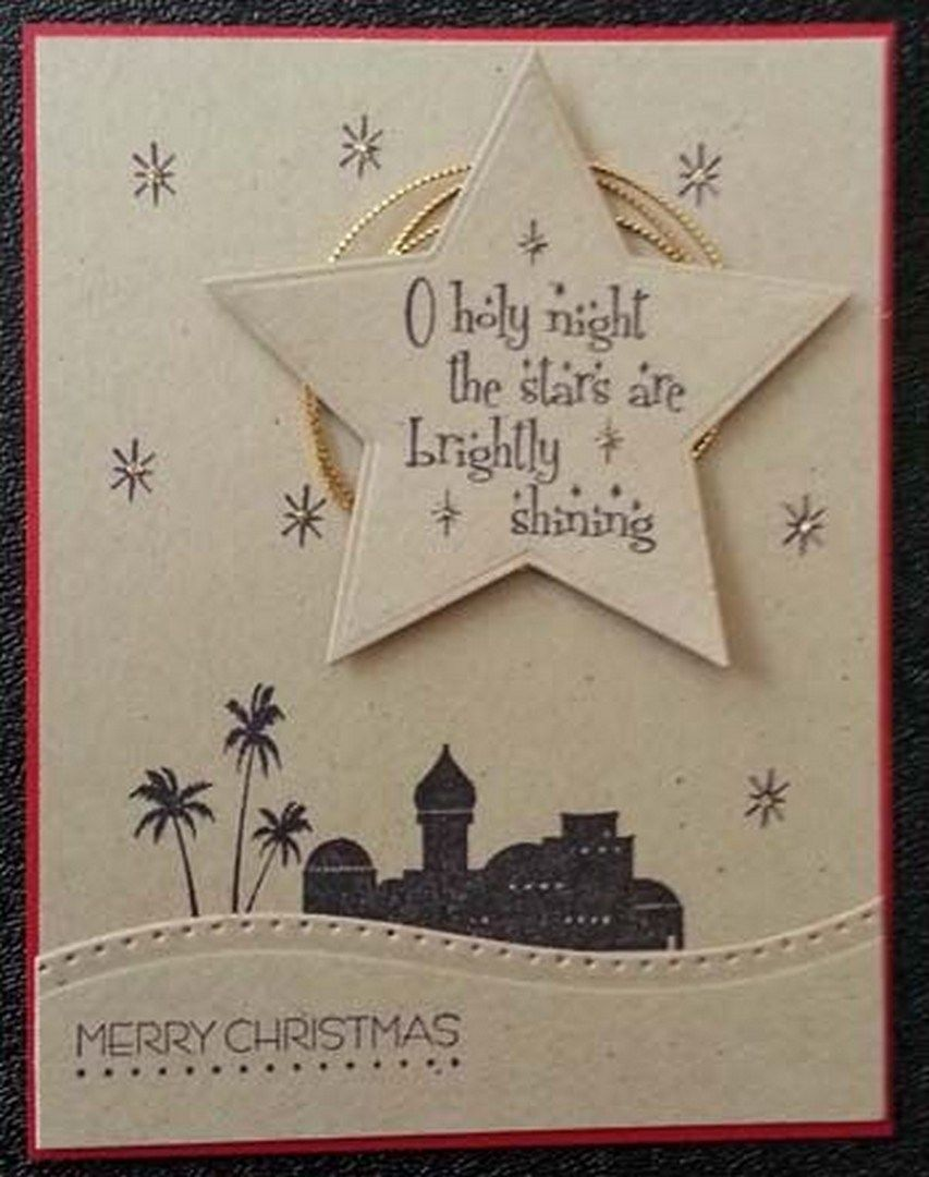 37 Easy DIY Christmas Card Craft (29)