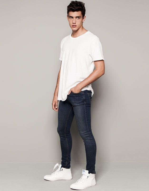 Jeans Super Skinny Fit Moda Ropa Hombre Ropa Casual De Hombre Ropa Hipster Hombre
