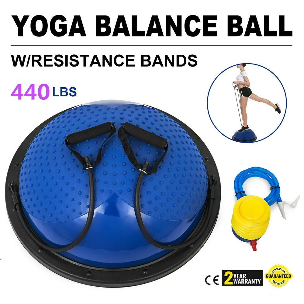 23 inch Yoga Half Ball Balance Trainer Fitness Flexibility Strength Exercise