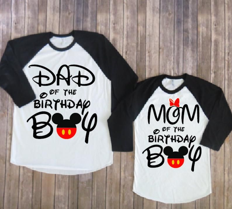 Mom and Dad of birthday boy Mickey Mouse Version, mickey