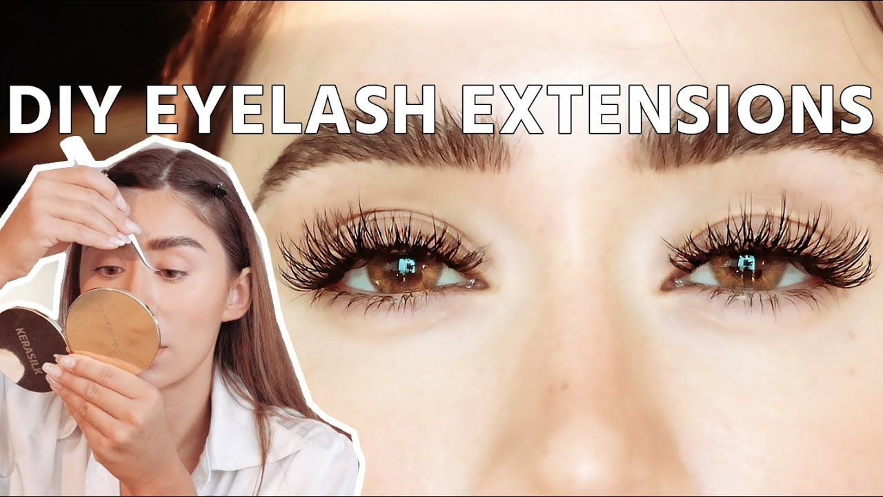 Diy eyelash extensions safe to do at home youtube in