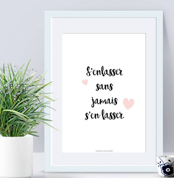 Poster Collection Wedding Deco Phrase Amour Déclaration