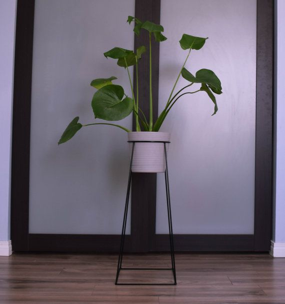 The tulameen wire steel metal planter plant stand ceramic pot ceramic pots metal - Steel pot plant stands ...