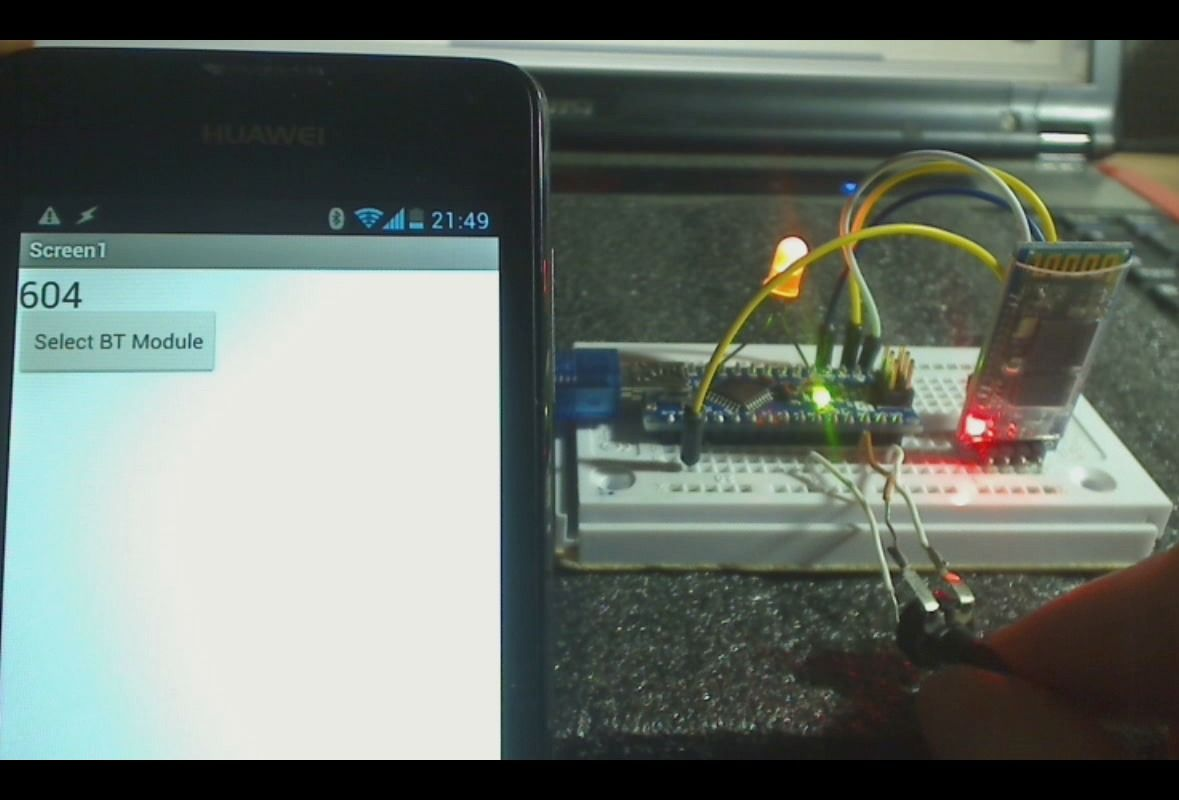 Android Receiving Data From Arduino Via Bluetooth (app