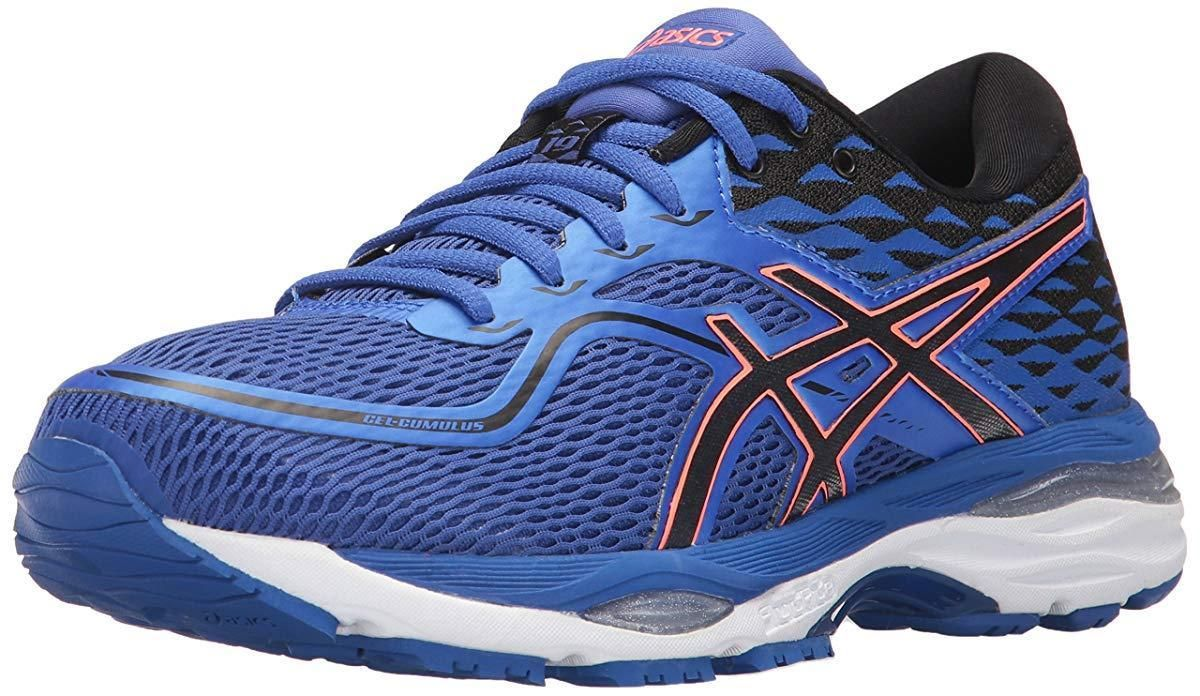 64 99 Asics W S Gel Cumulus 19 Running Shoes Blue Prpl Black Flash Coral 7 5 B M Us Cumulus Running Shoe Reviews Running Shoes Womens Athletic Shoes