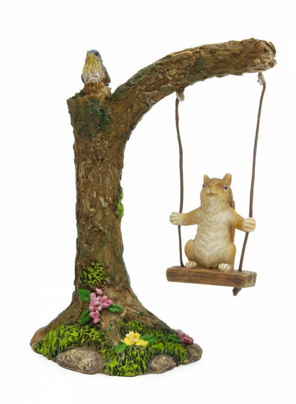 Fairy Garden Tree, Miniature Tree, Mini Tree With Swing, Accessory For Miniature  Garden, Mini Accessory, Fairy Garden Tree Swing