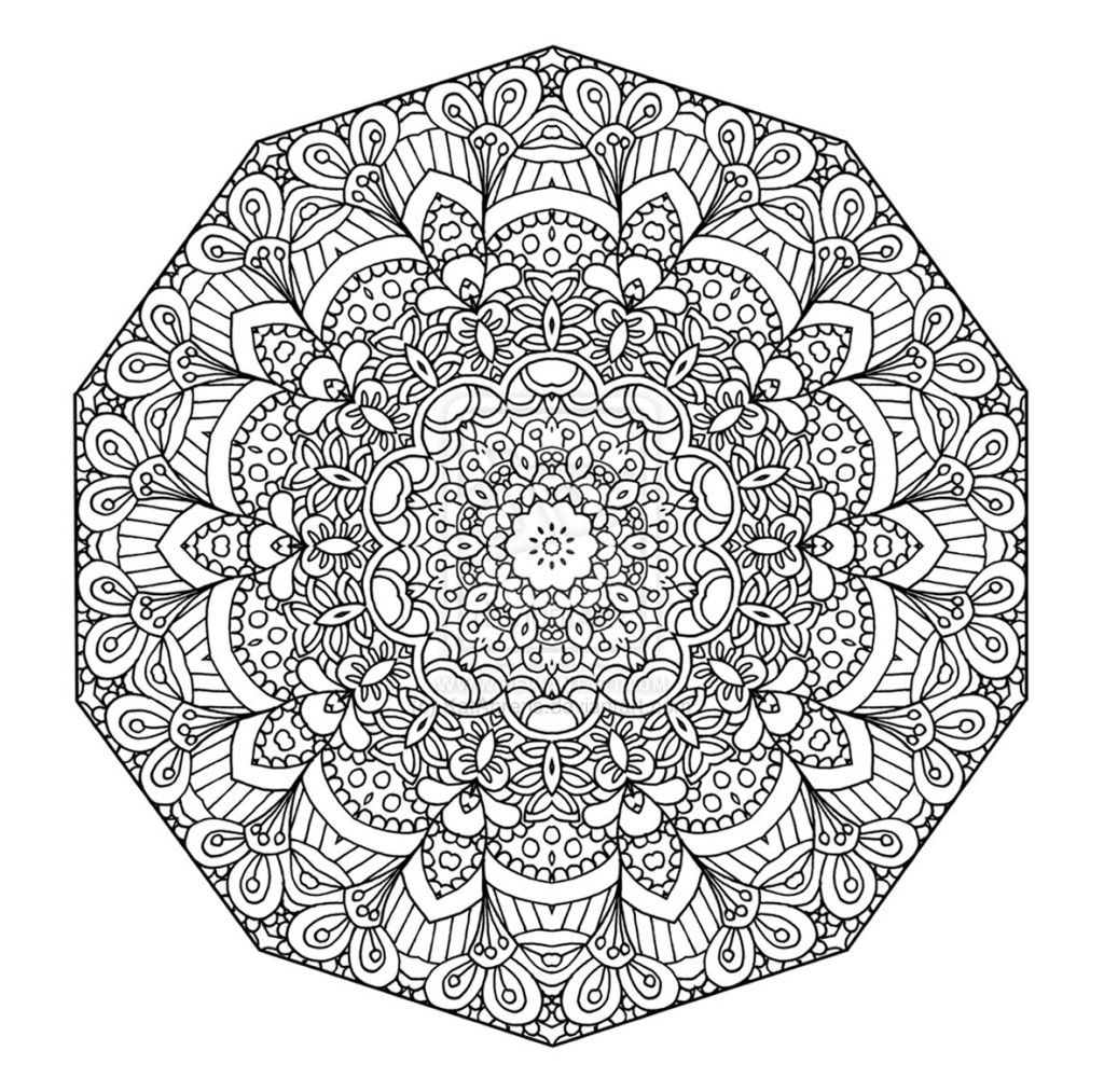 Mandala coloring pages easter - Free Printable Floral Mandala Coloring Page The Open Mind Com More