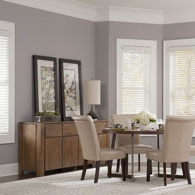 Our 2in Faux Wood Blinds Shown In The Color Snow White