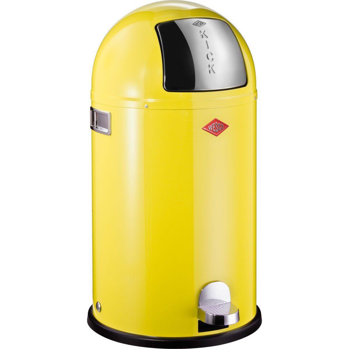 Wesco 177 731-19 Poubelle Kickboy (Jaune citron): Amazon.fr ...
