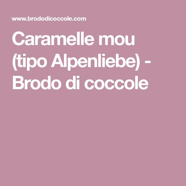 Caramelle Mou (tipo Alpenliebe