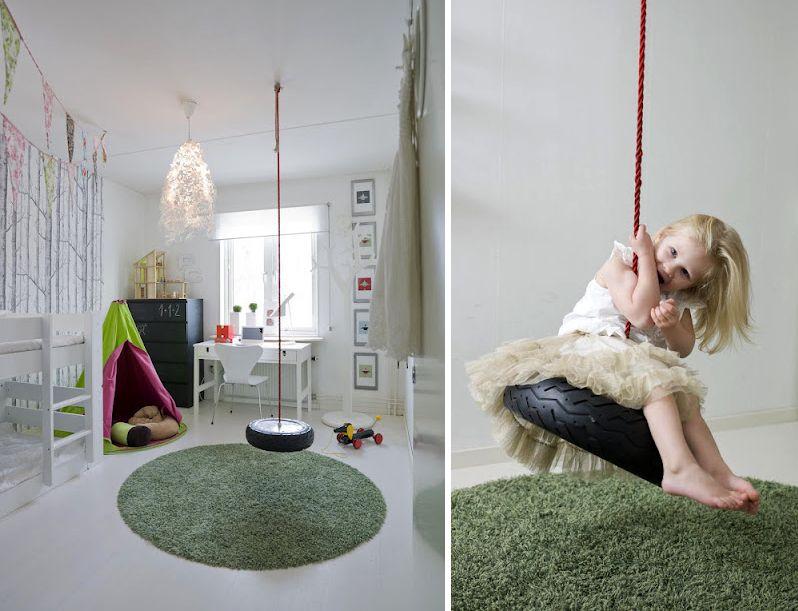 Jugar jugar jugar interiores l dicas de familias con columpios toboganes y paredes para - Columpios para casa ...