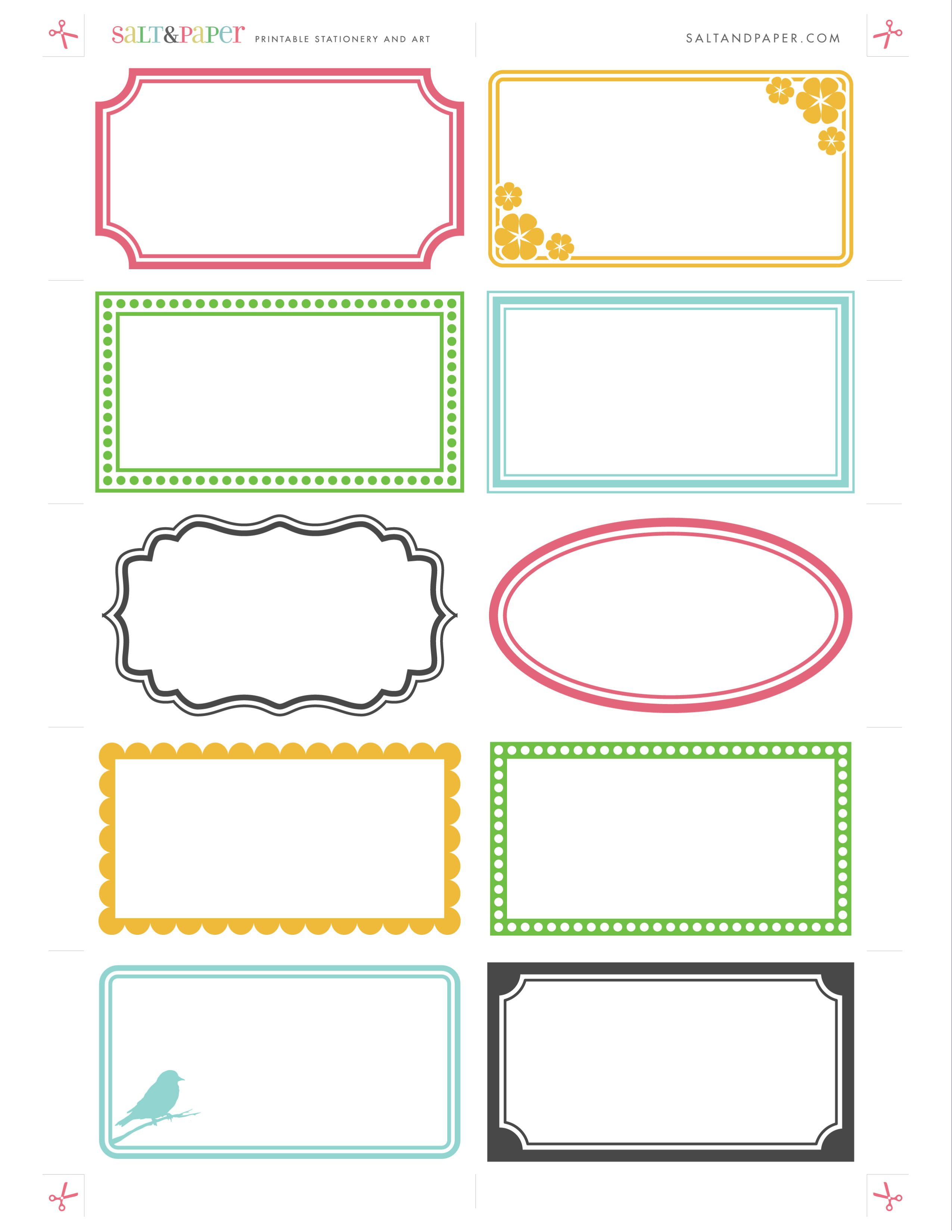 All sizes printable labels from saltandpaper flickr photo labels are so versatile use them in the kitchen on files boxes etc these can be printed on regular letter sized x paper or business card reheart Image collections