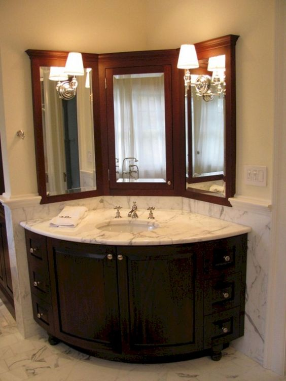 Bathroom Cabinets One Of The Most Necessary Things In Your Bathroom 12 Corner Sink Bathroom Bathroom Vanity Designs Small Bathroom Vanities