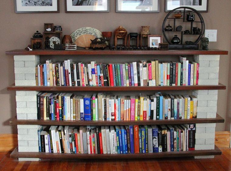 Muebles Estantes Para Libros.Estantes Para Libros Ideas Para Decorarlos Con Estilo