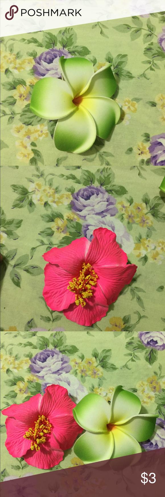 Hawaii flowers hair clip my posh picks pinterest hawaii flowers hair clip flowers hair clip nice for summer izmirmasajfo