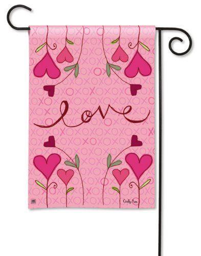 Hugs And Kisses Valentine Garden Flag By Magnetworks 9 99 Breezeart Decorative Garden Flag Dimensions 12 5 X 18 Buy Flag Decor Garden Flags Valentines