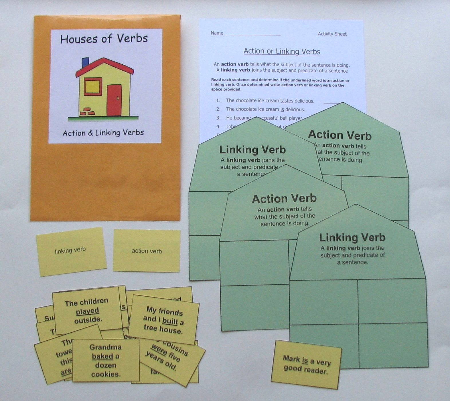 Identifying Action Amp Linking Verbs Students Can Practice