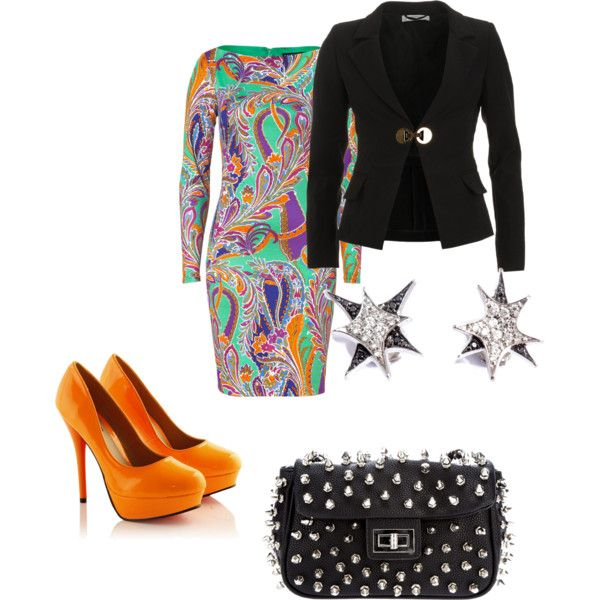 Bright and busy - Polyvore
