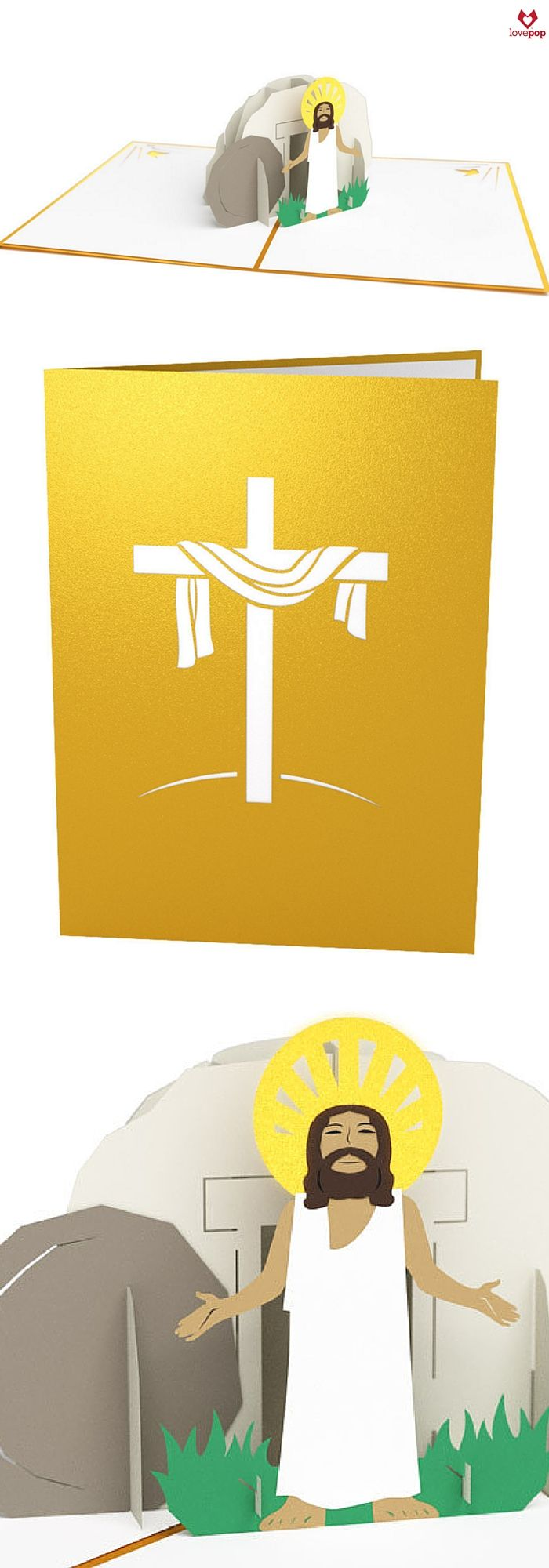 Celebrate His rising with an Easter pop up card of Jesus Christ. #HeHasRisen #EasterBlessings