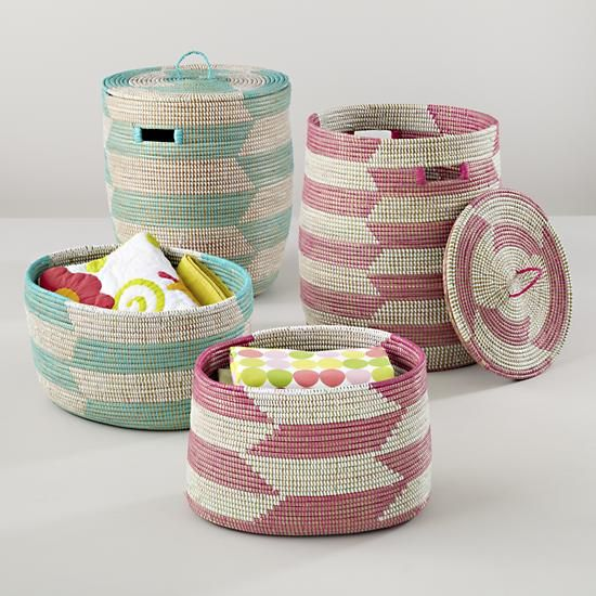 Delicieux The Land Of Nod | Kids Storage: Snake Charmer Storage Baskets In Floor  Storage