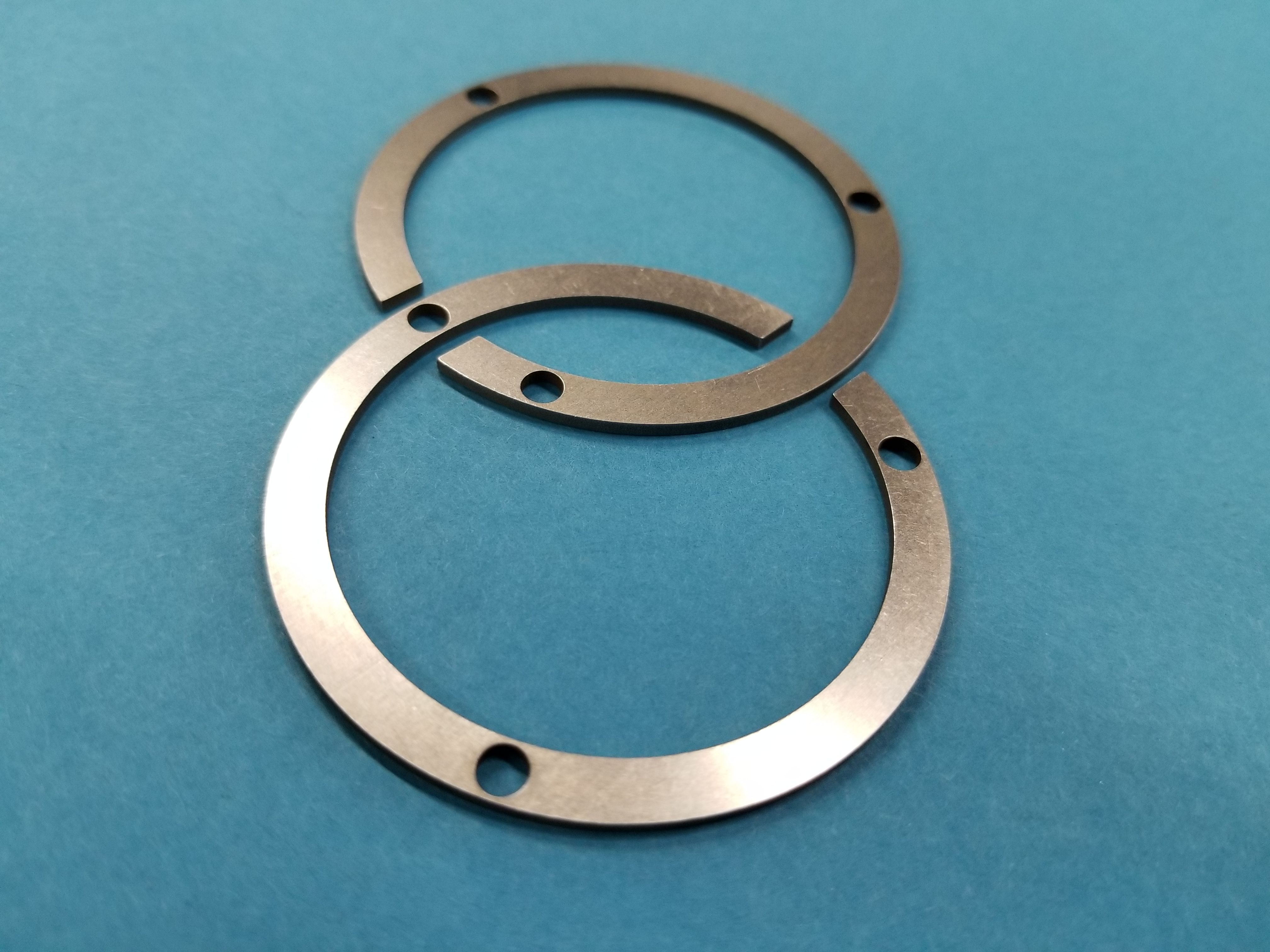 Steel washers with extra holes & slot cutout. .062 thick #punchpress ...