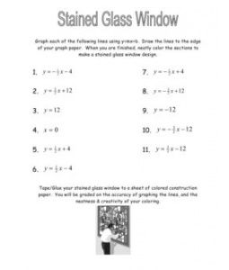 Stained Gl Window Linear Equations