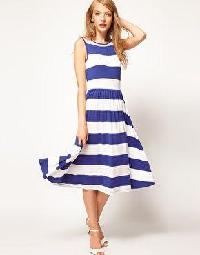 Midi dress with scoop back