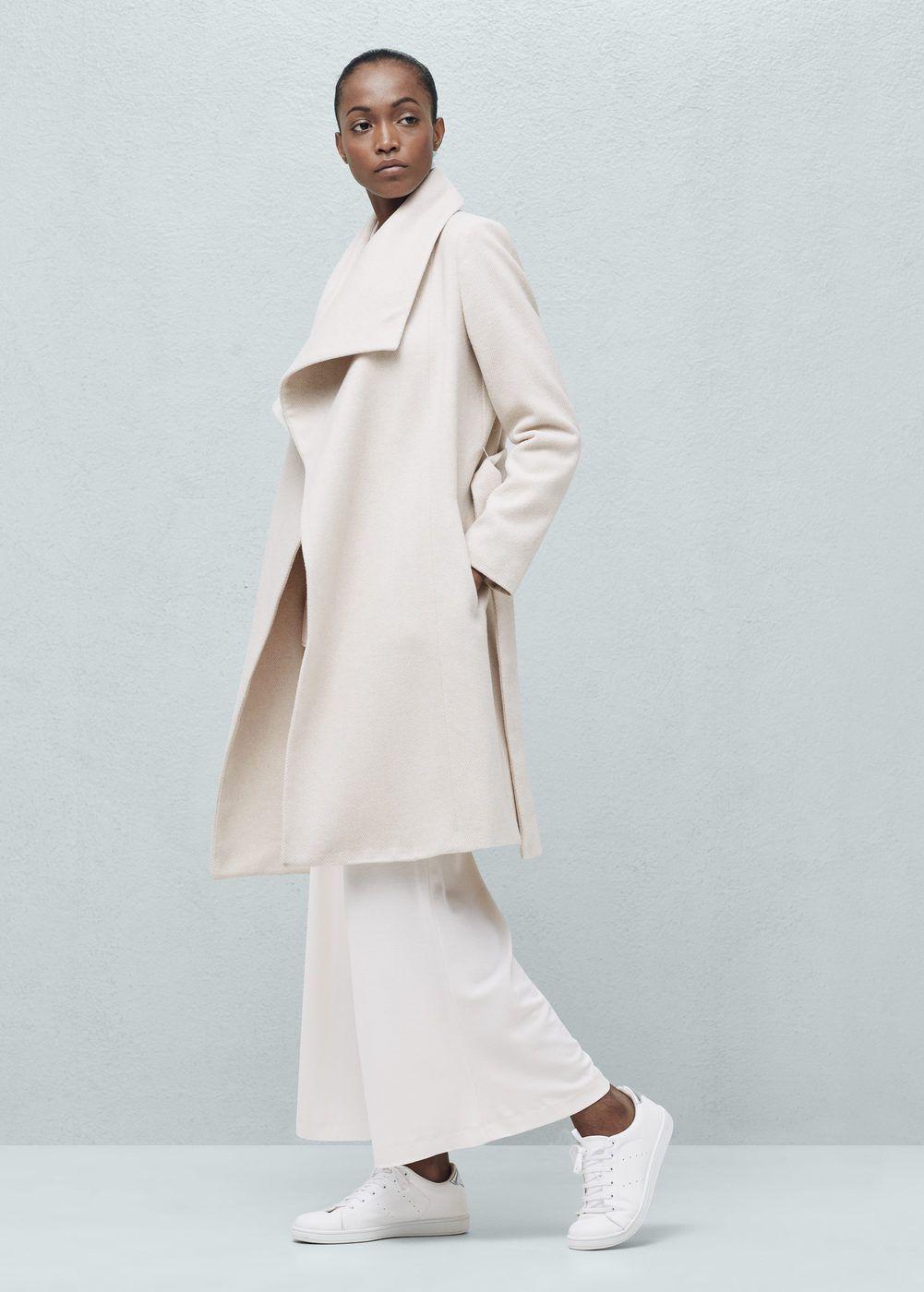 Manteau femme gris mango