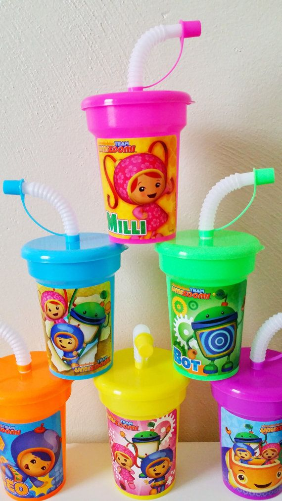 6 Lightweight Party Favor Cups Team Umizoomi By KidsPartyCups 2 Year Old Birthday
