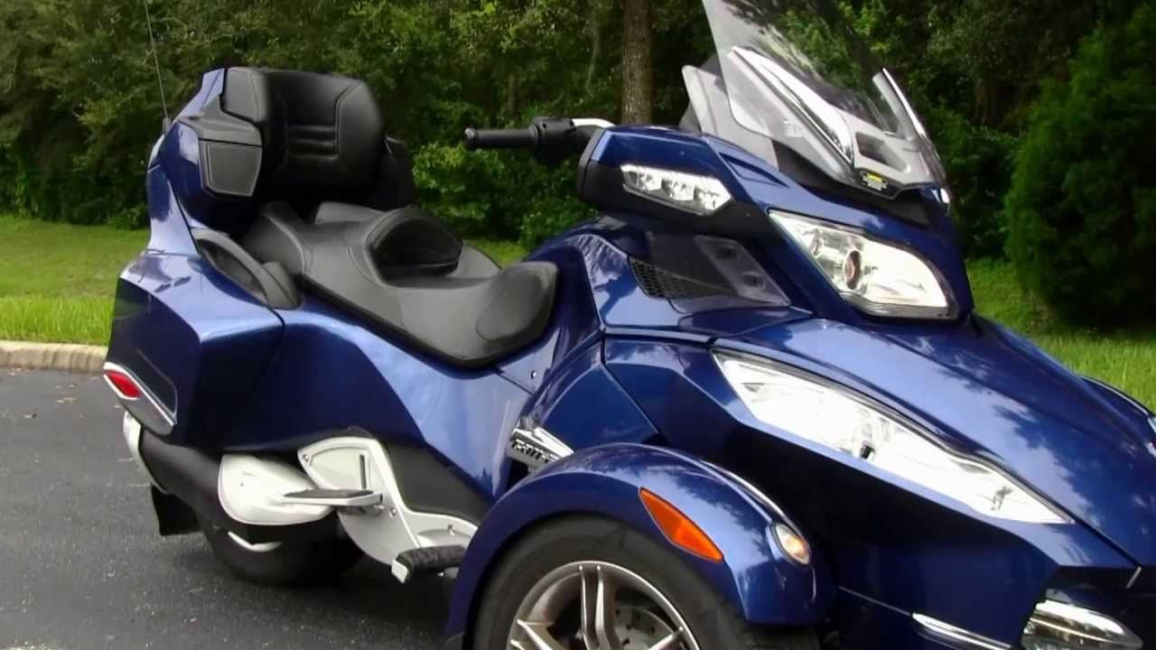 Used 2011 can am spyder rt s 3 wheel motorcycle for sale