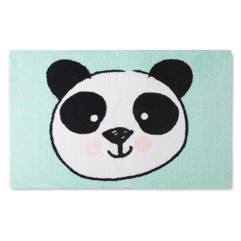 This Pillowfort Mint Panda Accent Rug At Target Would Look Adorable In Your  Childu0027s Room.