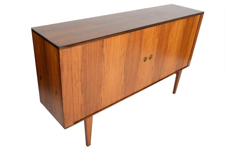 Danish Credenza For Sale : Tall danish modern rosewood tambour credenza in 2018 komoda
