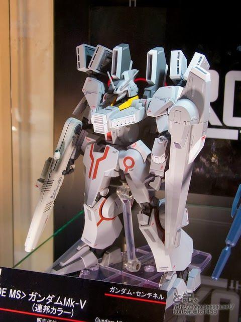 GUNDAM GUY: Tamashii Web Shop Exclusive: Robot Damashii x Ka Signature (Side MS) Gundam Mk-V (Earth Federation Colors) - On Display @ Winter Hobby Fair 2014 [Updated 1/26/14]