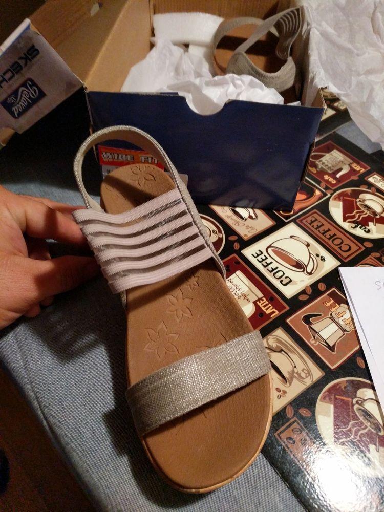 Sandals, Wedge sandals, Skechers women