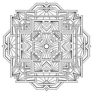 remarkable sacred geometry mandala coloring pages with complex ...