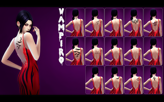 Sims 4 CC's - The Best: Tattoos by MjauDuuude