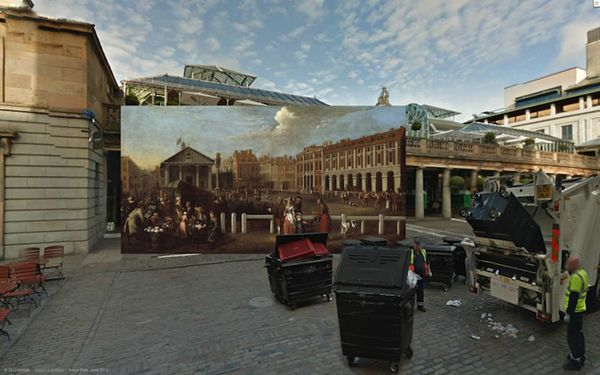 Lukisan Bersejarah London Yang Digabungkan Dengan London Modern