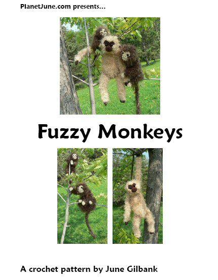 Fuzzy Monkeys amigurumi crochet pattern   Pinterest
