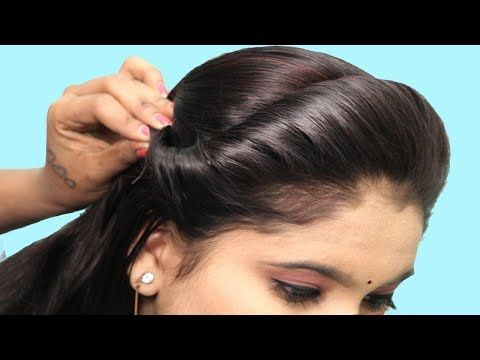Quick And Easy College Party Hairstyle Front Hairstyle Easy Party Hairstyle Hair St In 2020 Easy Party Hairstyles Front Hair Styles Easy And Beautiful Hairstyles