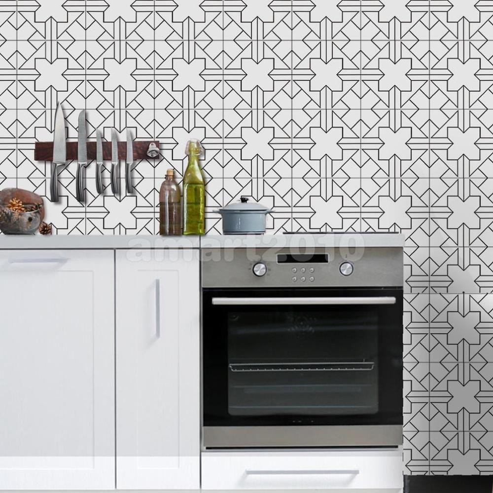 Home Decor Self-adhesive PVC Tile Stickers Bathroom Wall Floor DIY ...