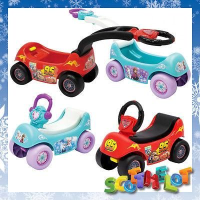 top quality kids toddlers genuine disney cars or frozen ride on pull along toy wagon