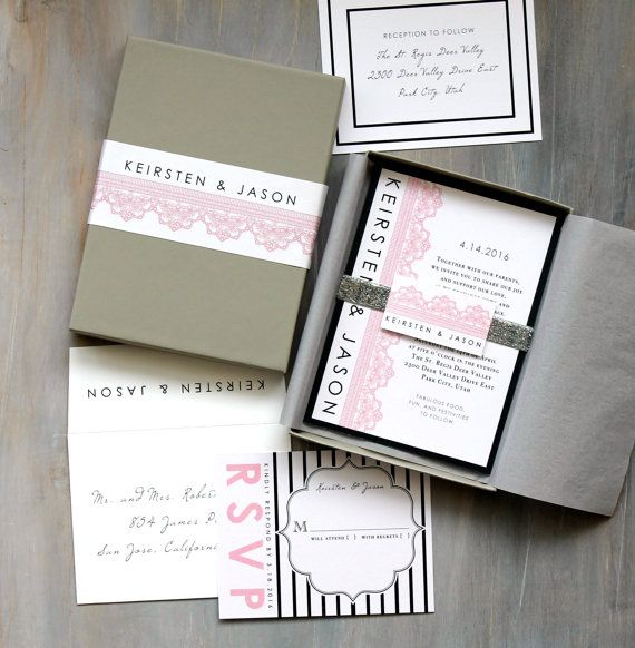 Unique Boxed Wedding Invitations Wedding Invitations By