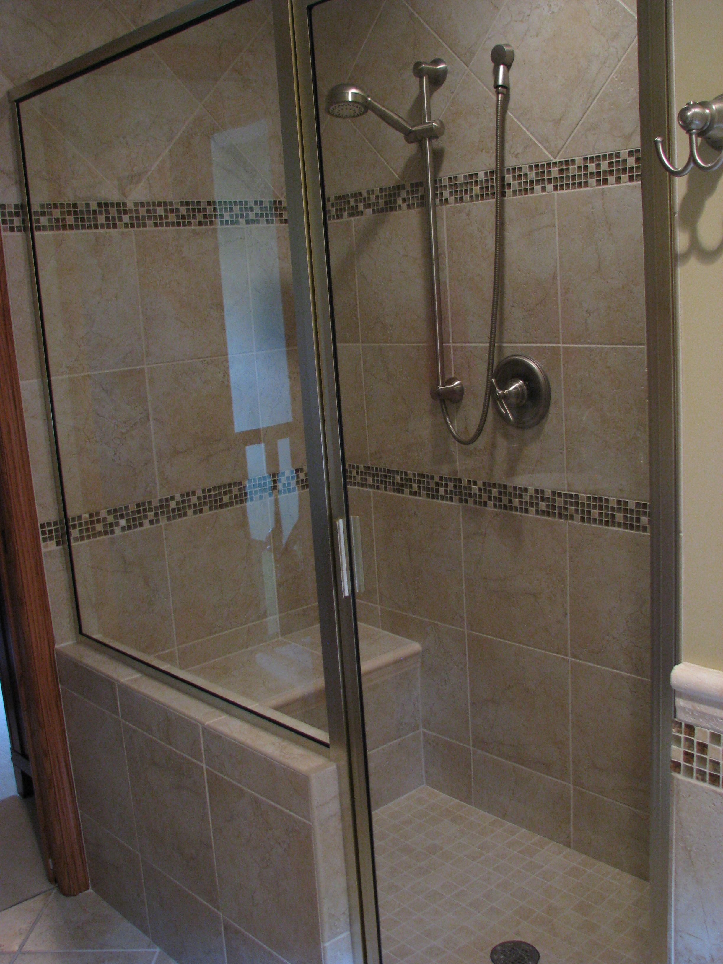 Superior 3 X 5 Shower Custom Built With Bench And Two Shower Heads